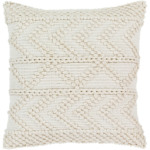 Nadra Bohemian Poly or Feather Down 20-inch Filled Throw Pillow
