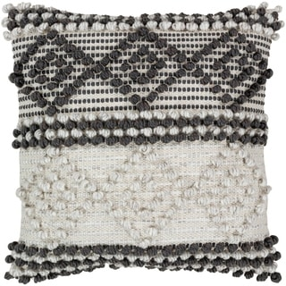 Vesta Bohemian Poly or Feather Down Filled 18-inch Throw Pillow