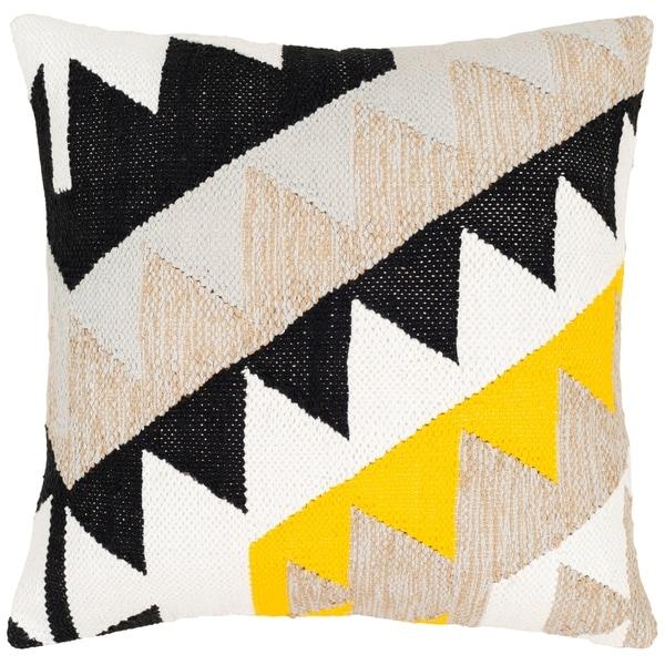 Remigio Cotton Feather/Down FilledModern 20-inch Throw Pillow