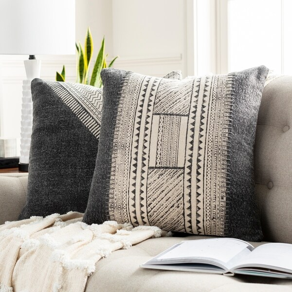 Eydis Bohemian 20-inch Poly or Feather Down Filled Throw Pillow. Opens flyout.