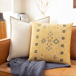 Parodia Bohemian 18-inch Poly or Feather Down Filled Throw Pillow
