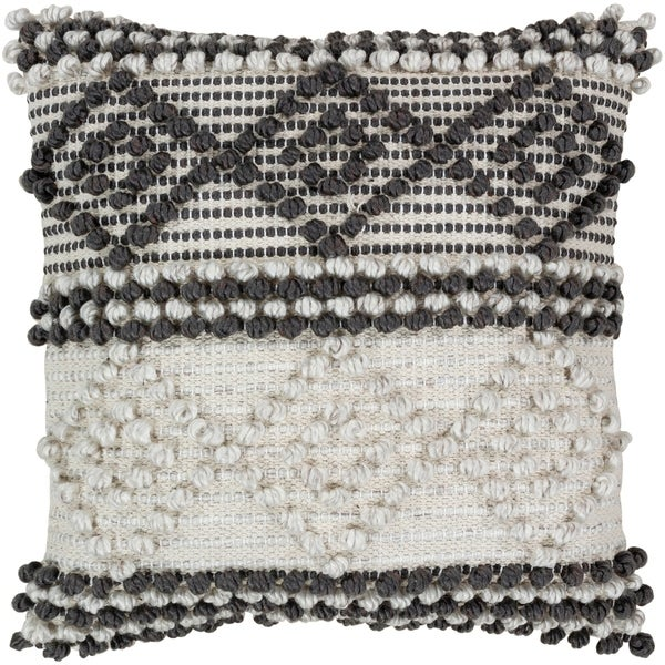 Vesta Bohemian Poly or Feather Down Filled 20-inch Throw Pillow