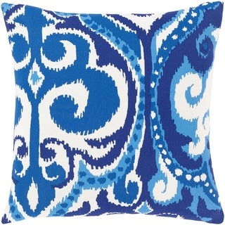 Marlais Bohemian Blue Poly or Feather Down-filled Throw Pillow