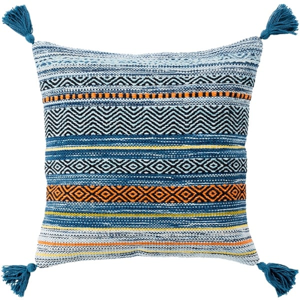 Four Southwest Tassels 22-inch Poly or Feather Down Pillow