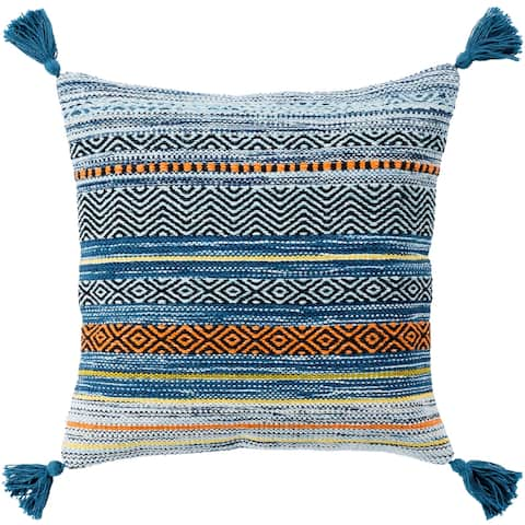 Four Southwest Tassels 18-inch Poly or Feather Down Pillow