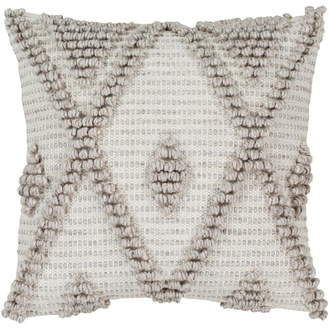 Audra Bohemian 18-inch Poly or Feather Down Filled Throw Pillow