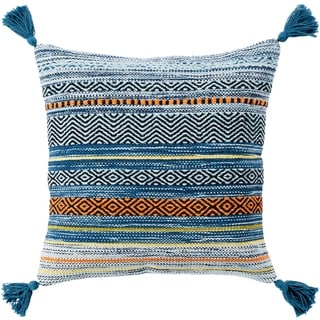 Four Southwest Tassels 20-inch Poly or Feather Down Pillow