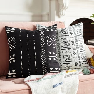 Adisa Bohemian 18-inch Poly or Feather Down Filled Throw Pillow