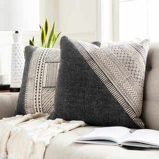 Tejas Bohemian 20-inch Poly or Feather Down Filled Throw Pillow