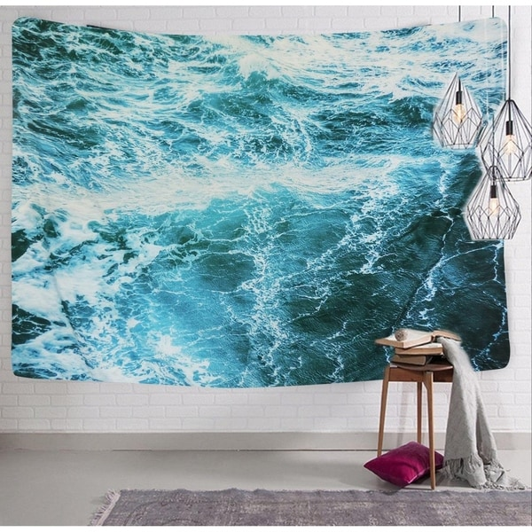 Shop Polyester Tapestry Mandala Wall Hanging Ocean Wave 59