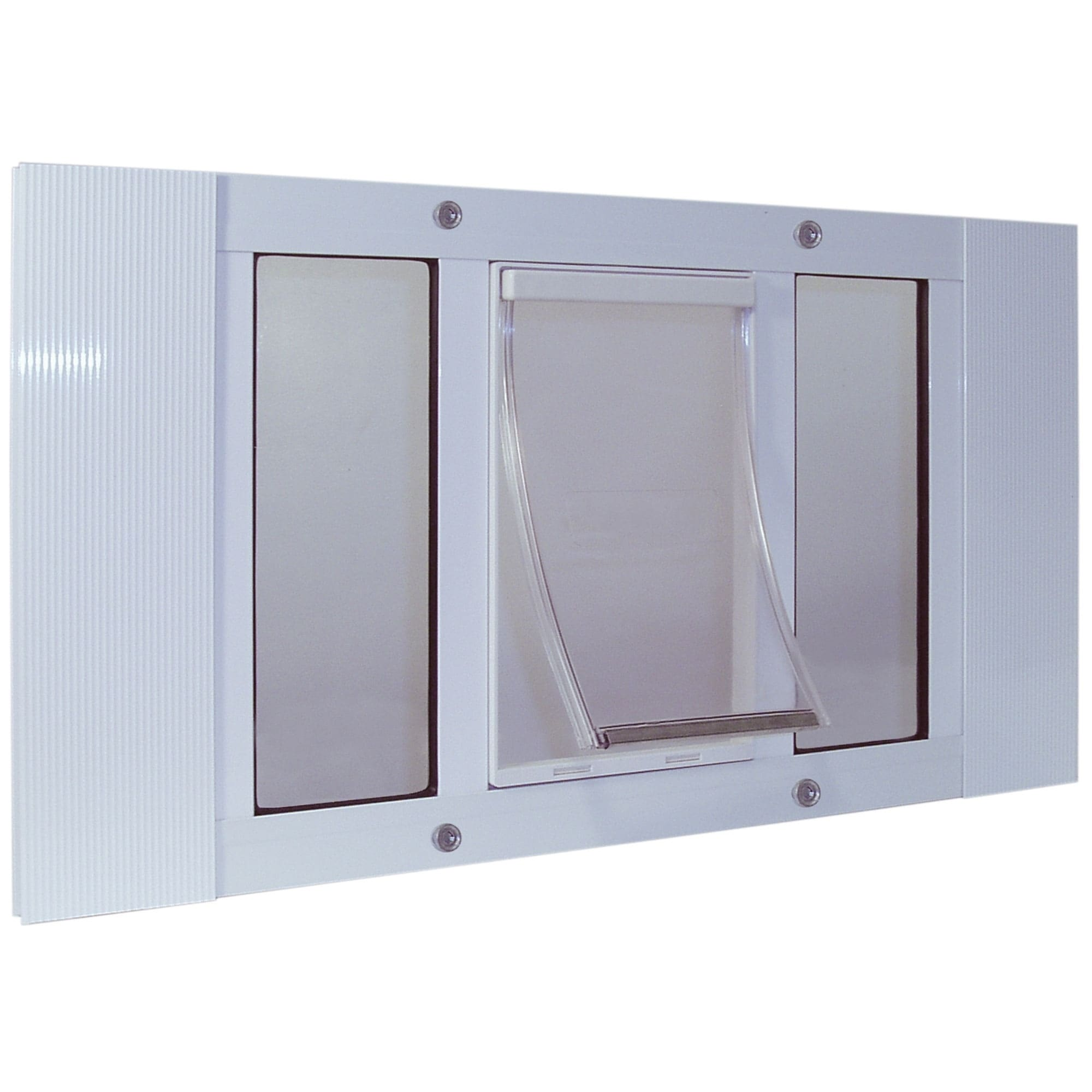 Ideal Pet Products Aluminum Sash Pet Door Small White 1.75 x 33 x 12.56