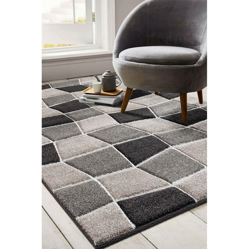 Porch & Den Lynnvale Beige/ Brown Geometric Abstract Area Rug