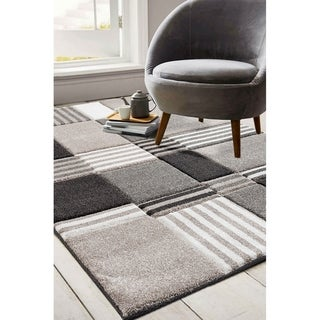 Porch & Den Mabel Beige/ Brown Geometric Abstract Area Rug
