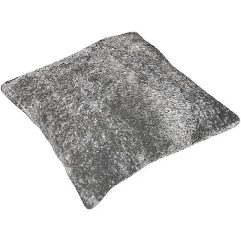 Dysis Shag 27-inch Poly or Feather Down Filled Throw Pillow