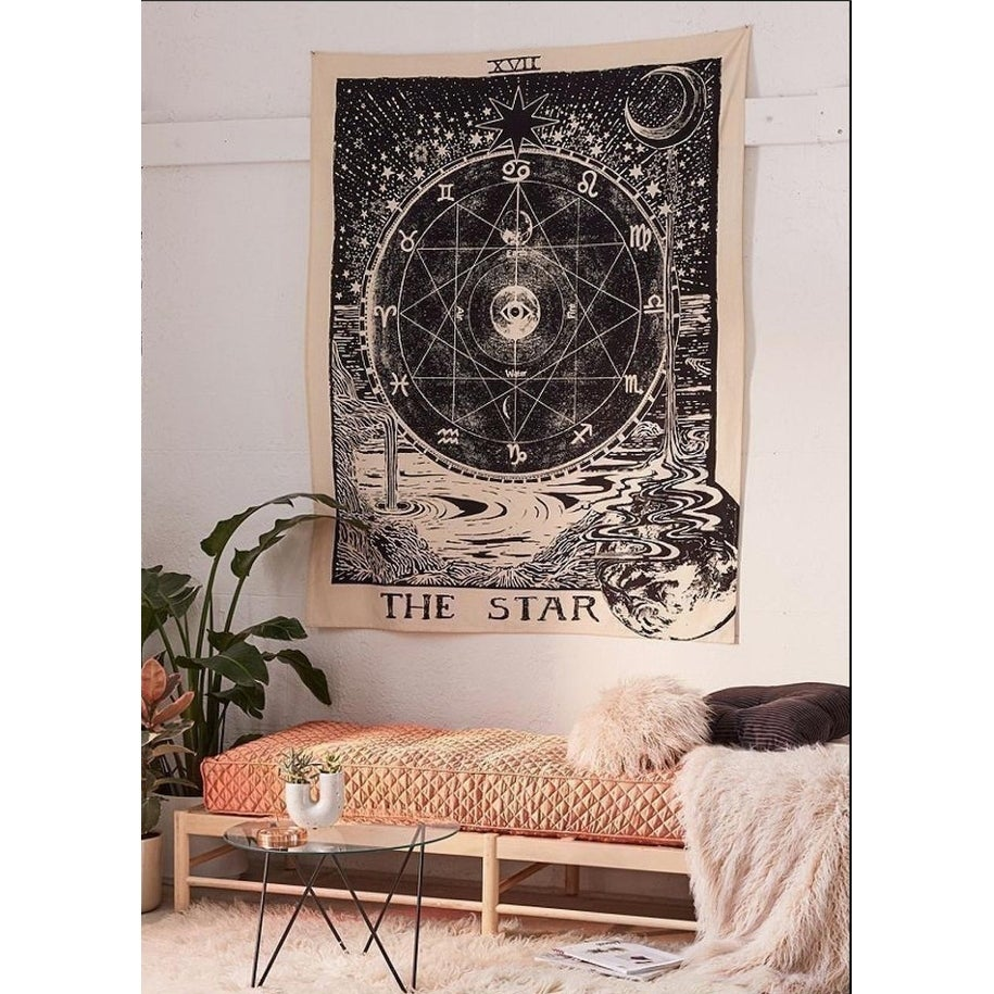 Polyester Tapestry Mandala Wall Hanging The Stars 82 X 59 Overstock 28180183
