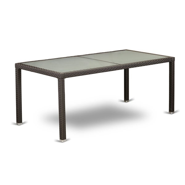 LUVL5-63S 5 pc Outdoor Wicker Patio Furniture Set in Dark Brown Finish
