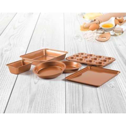 6 Pieces Non Stick Copper Bakeware Set