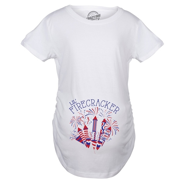 14273da3006a3 Shop Maternity Lil Firecracker Pregnancy Tshirt Cute 4th Of July USA Tee - Free  Shipping On Orders Over $45 - Overstock - 28180376