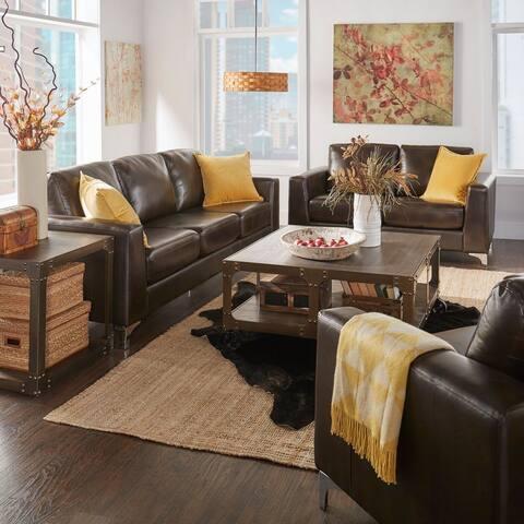 Bastian Ii Aniline Leather Sofa By Inspire Q Modern