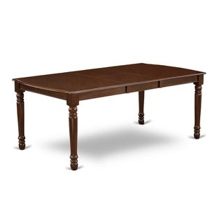 "DOT-MAH-T Dover Dining Room table with 18"" Butterfly Leaf  -Mahogany Finish. - Mahogany"
