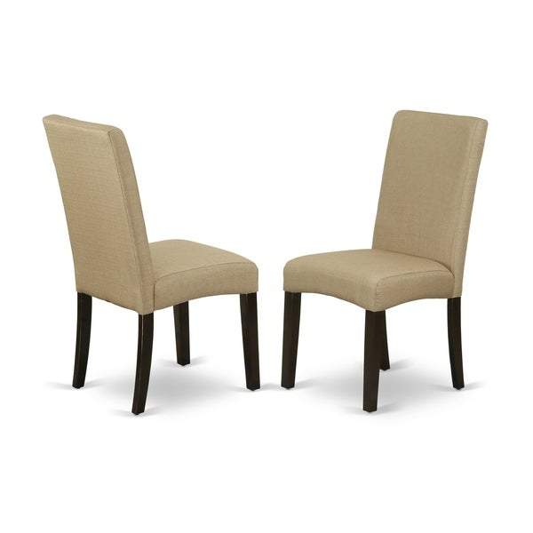 Shop Drp5t03 Parson Chair With Cappuccino Finish Leg And