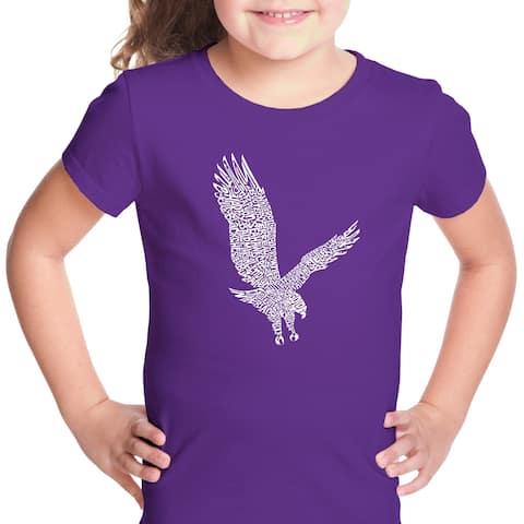 Girl's Word Art T-shirt - Eagle - LA Pop Art