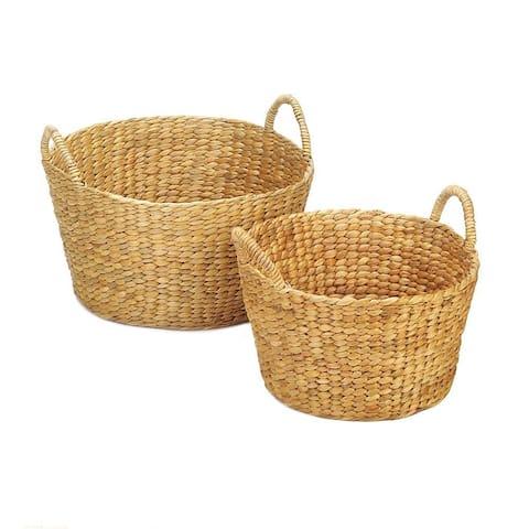 Shandon Weaved Straw Storage Baskets - Set of 2