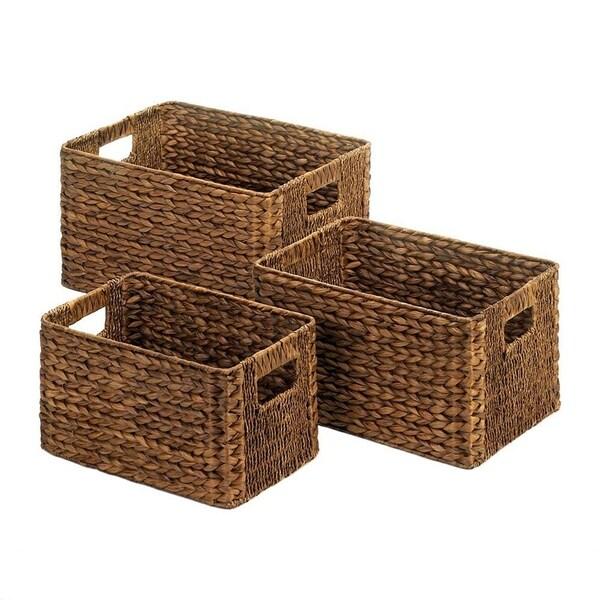 Goodwin Dark Brown Nesting Baskets - 3 Piece