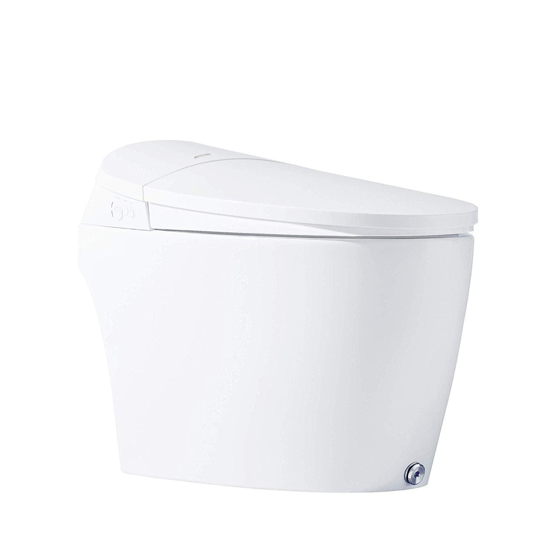 Smart Toilet Seat White Eco Friendly Assembled Home Improvement Bidets Led Night