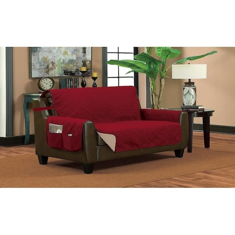 Porch & Den Knollcrest Quilted Ogee Loveseat Furniture Protector Slipcover