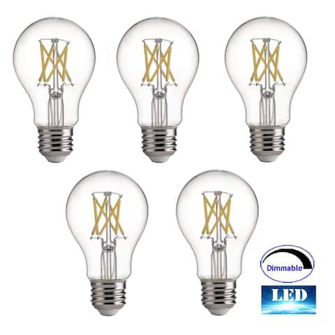 ARTIVA 75-Watt Equivalent E26 A19 LED Dimmable Light Bulb Day Light 5000K(Set of 5)
