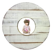 Handmade Recycled Wood Chic and Shabby Round Picture Frame (Thailand)