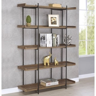 Link to Brown/Black Wood/Metal Rustic Display Bookcase Similar Items in Living Room Furniture