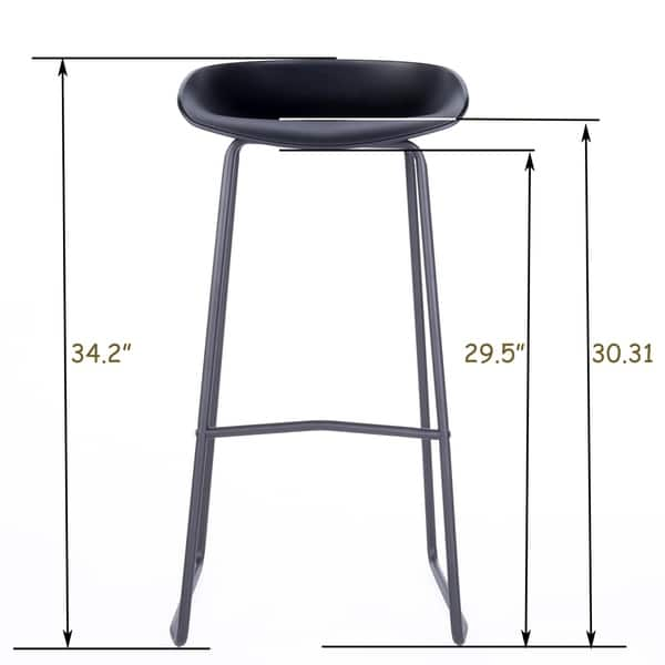 Cool Shop Art Leon 29 5 Inches Height Modern Bar Stools With Foot Evergreenethics Interior Chair Design Evergreenethicsorg