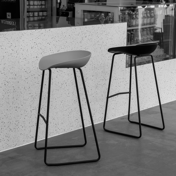 Tremendous Shop Art Leon 29 5 Inches Height Modern Bar Stools With Foot Evergreenethics Interior Chair Design Evergreenethicsorg