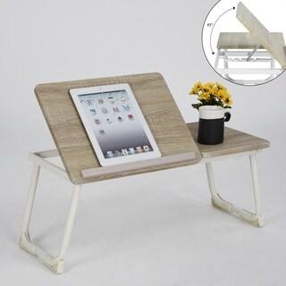 Porch & Den Umiat Beige/ Beech Laptop Stand Riser Tray