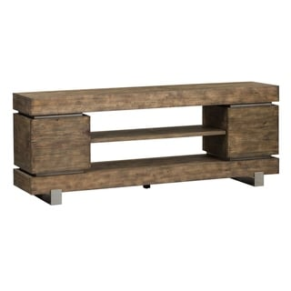 West End Grey Wash Pine and Powder Coated Satin 72-inch TV Console