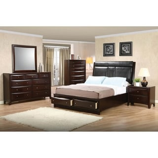 Entrepreneur Cappuccino 3-piece Storage Bedroom Set with Chest