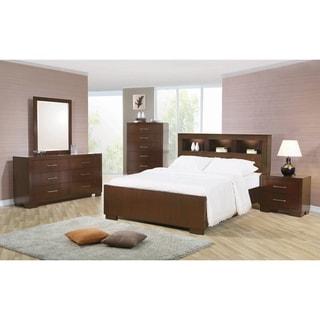 Tokyo Cappuccino 4-piece Bedroom Set with 2 Nightstands