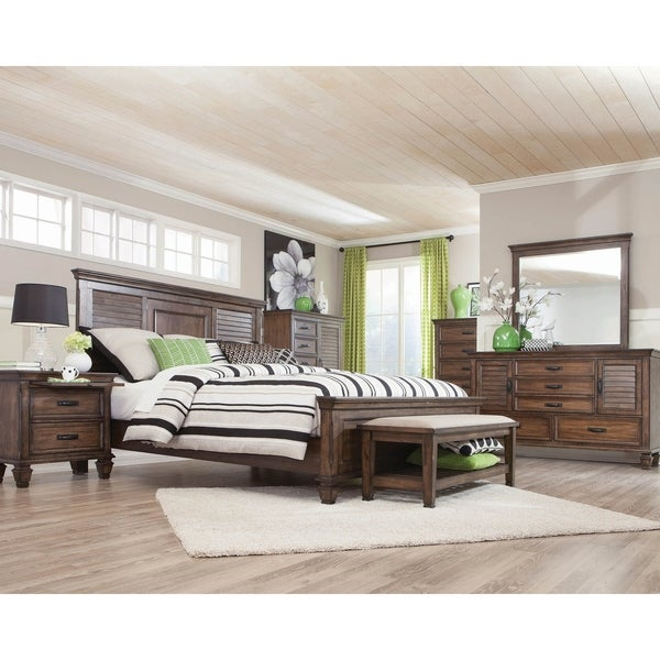 Hazelwood 3-piece Panel Bedroom Set with Dresser
