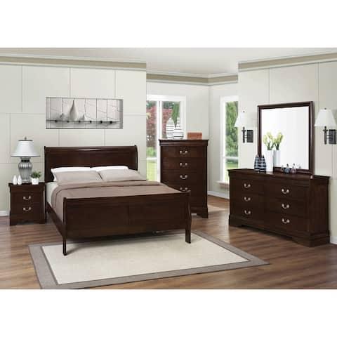 Hilltop Cappuccino 6-piece Sleigh Bedroom Set