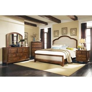 Claire Rustic Brown 4-piece Bedroom Set with 2 Nightstands