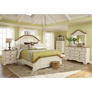 Storybook Buttermilk and Brown 5-piece Bedroom Set with 2 Nightstands