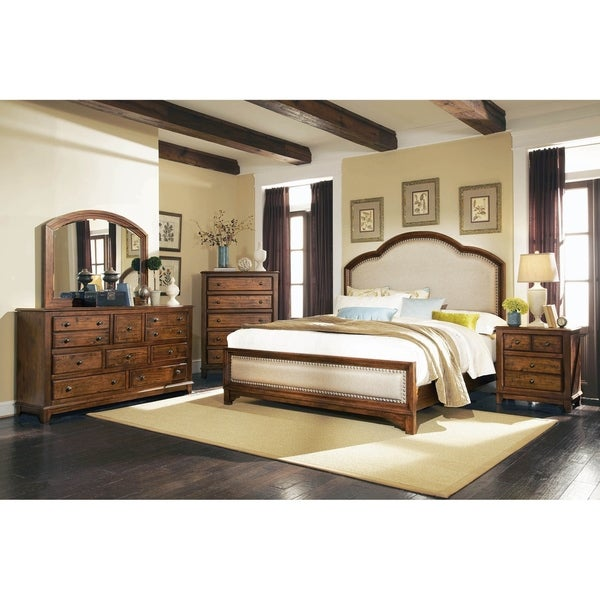 Claire Rustic Brown 3-piece Bedroom Set with Dresser