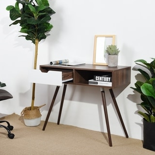 Carbon Loft Wasden Mid-century Console Table with Drawer Open Shelving