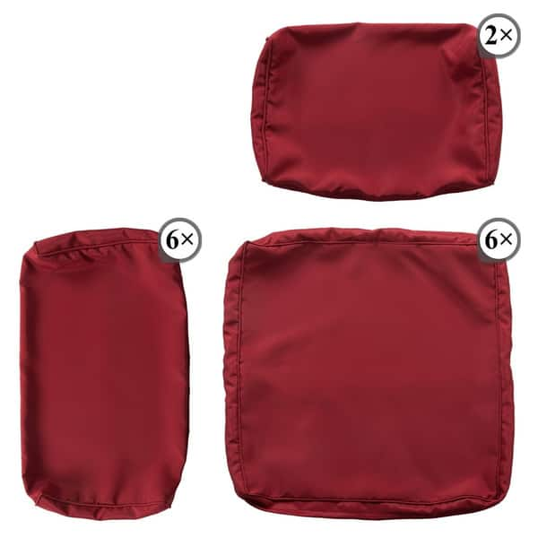 Kinbor 7 Piece Patio Cushion Cover