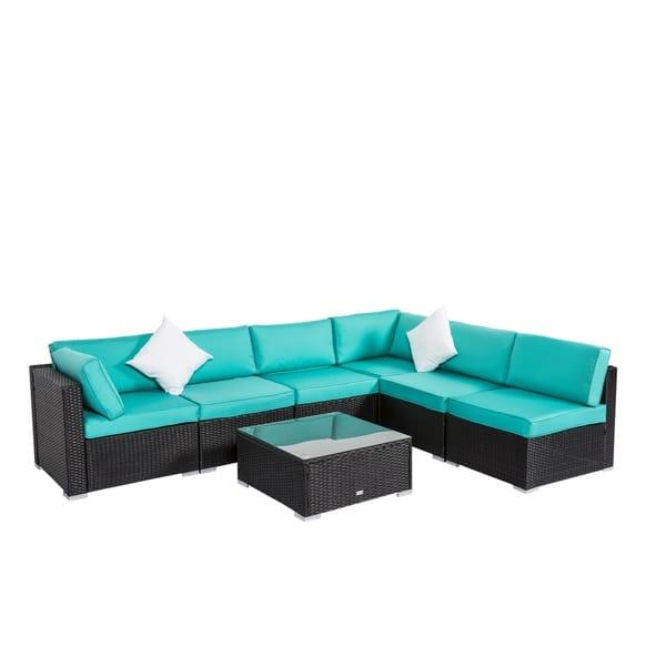 Shop Kinbor 7-piece Patio Cushion Cover Outdoor Seat Cushion ...