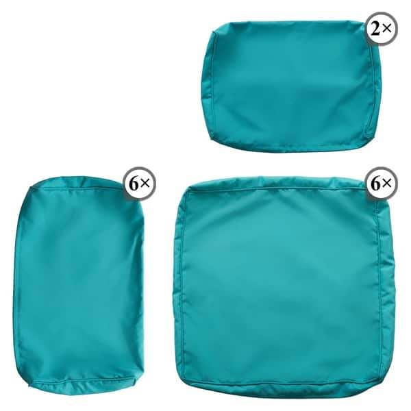 Kinbor 7 Piece Patio Cushion Cover