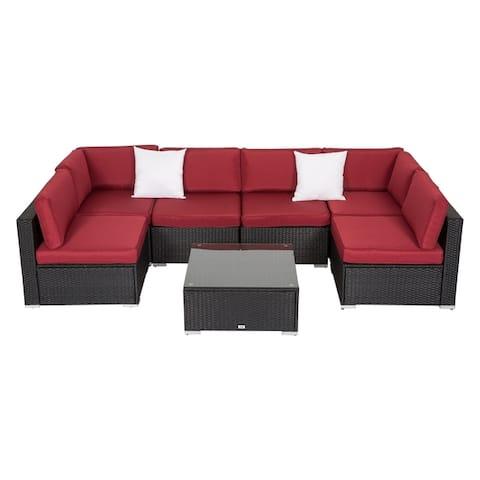 Kinbor 7-piece Patio Cushion Cover Outdoor Seat Cushion Cover Replacement Cushion Cover Set