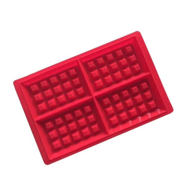 Shop Silicone Waffle Mold Maker Baking Molds Red Cookie Cake